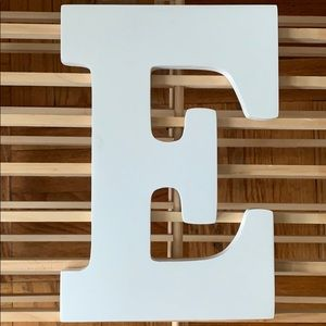 Wooden E White for Crafts Decoration